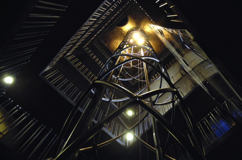 Dans la tour de l'Hôtel de Ville, Prague, République Tchèque