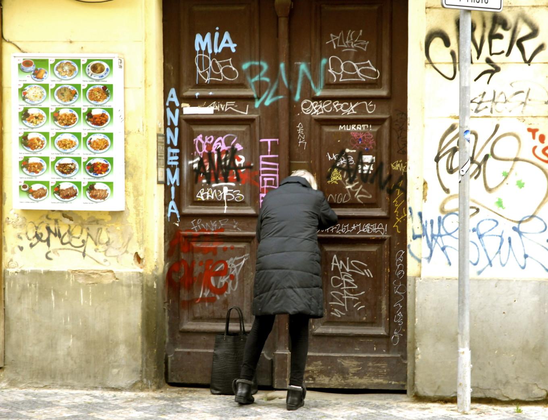 Pas de porte, Prague, République Tchèque