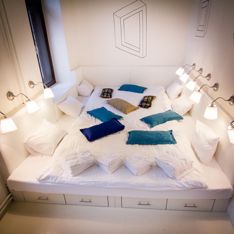 Chambre-lit au Hotel Fusion, Prague, République Tchèque