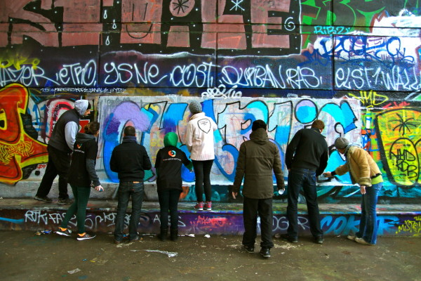 Initiation au graff, Paris, France