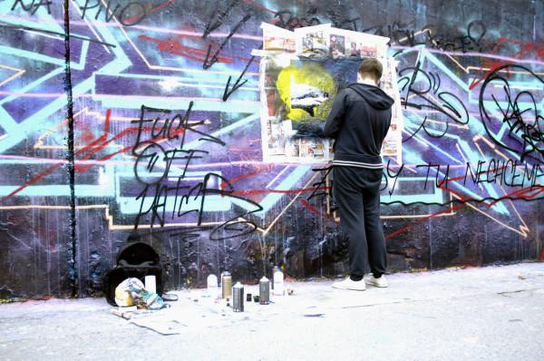 Mur de street art, Prague, République Tchèque