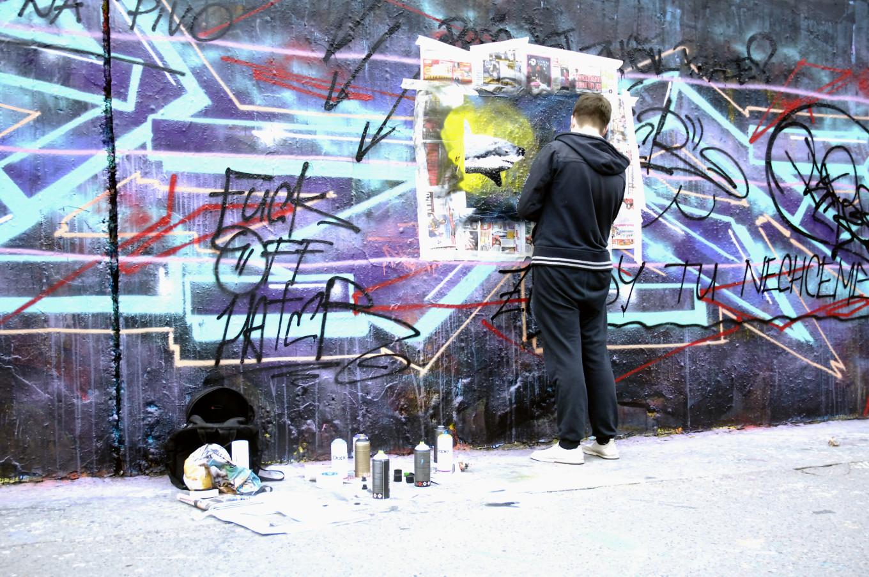 mur de street art, Prague