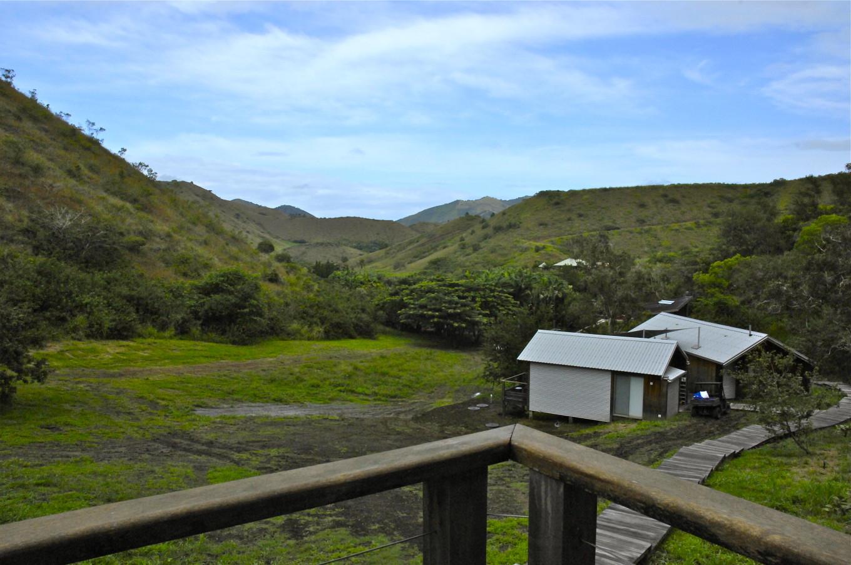 Vue du balcon au Betikure Lodge, Bourail, Nouvelle-Calédonie