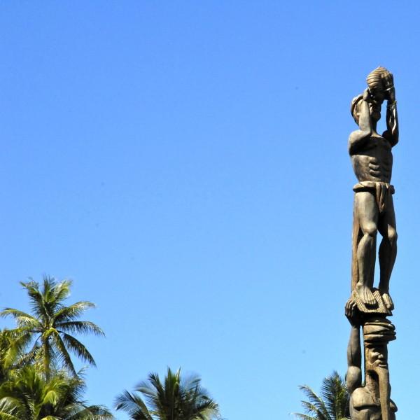 Totem de tribu, Poindimié, Nouvelle-Calédonie
