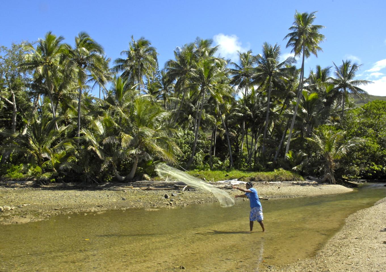 Pêche à l'épervier, Poindimié, Nouvelle-Calédonie