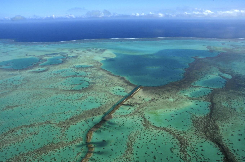 Le lagon vu du ciel, Voh, Nouvelle-Calédonie