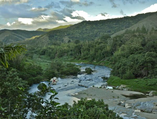 Le long de la Tiwaka, Pombei, Nouvelle-Calédonie