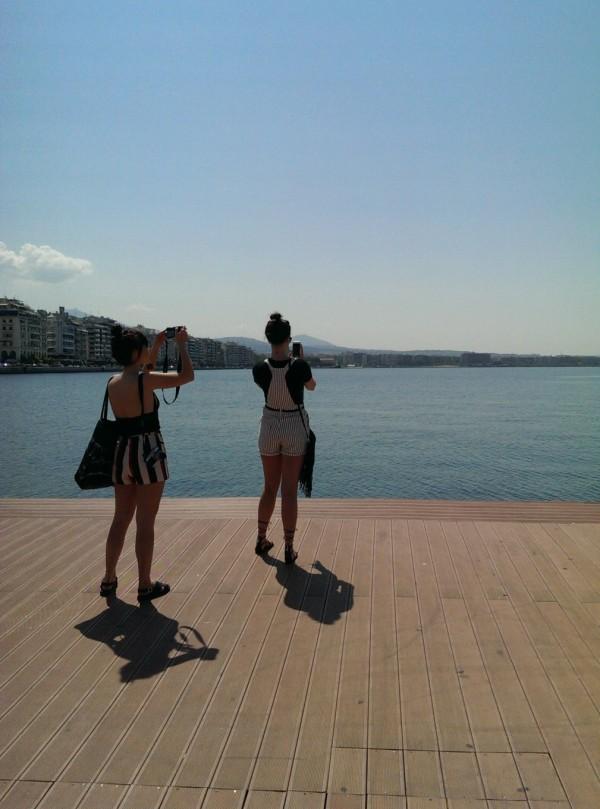 Sur les docks, Thessalonique, Grèce