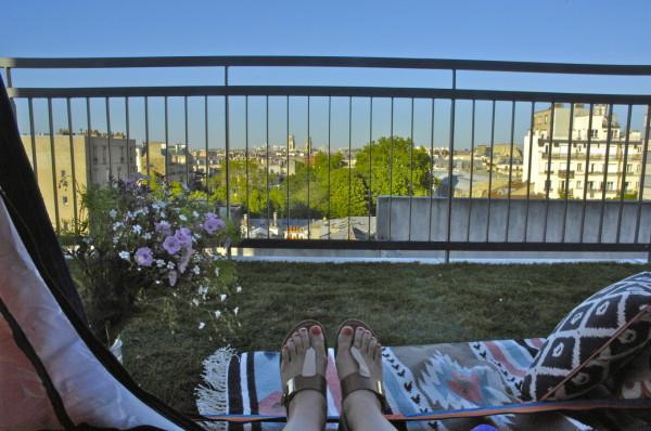 Vue de ma tente, Paris, France