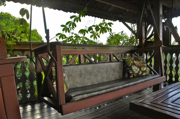 Salon privatif, Château Mango, Deshaies, Guadeloupe