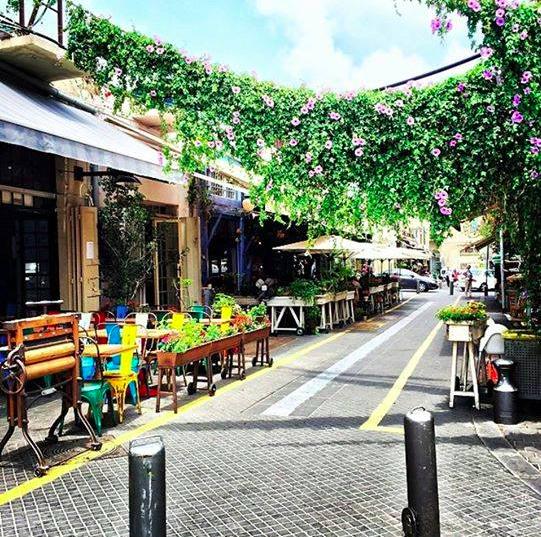Flea market restaurant, Jaffa, Israël