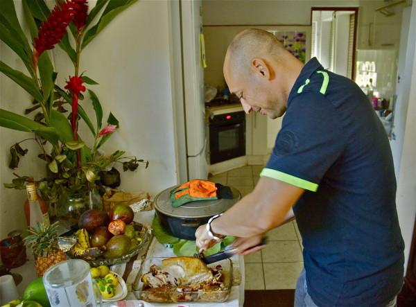 Un repas créole en famille, Trois-Rivères, Guadeloupe