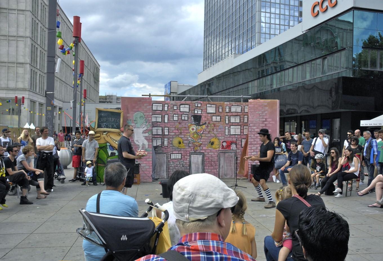 Spectacle de rue, Berlin, Allemagne