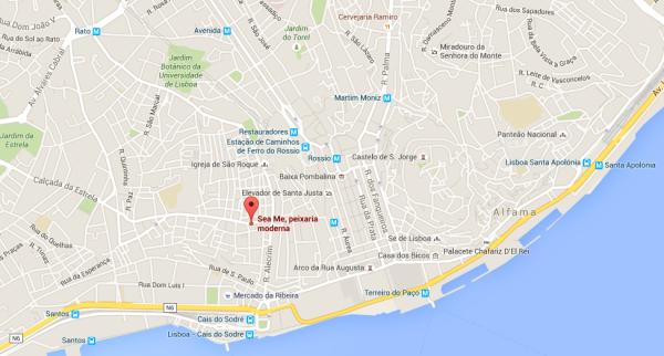 Restaurant de poissons, Chiado, Lisbonne