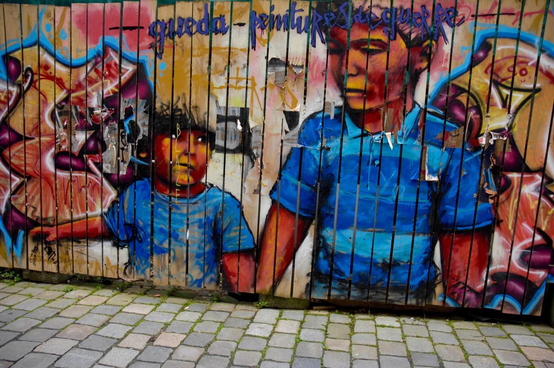 Graffiti sur planches, Rennes, France