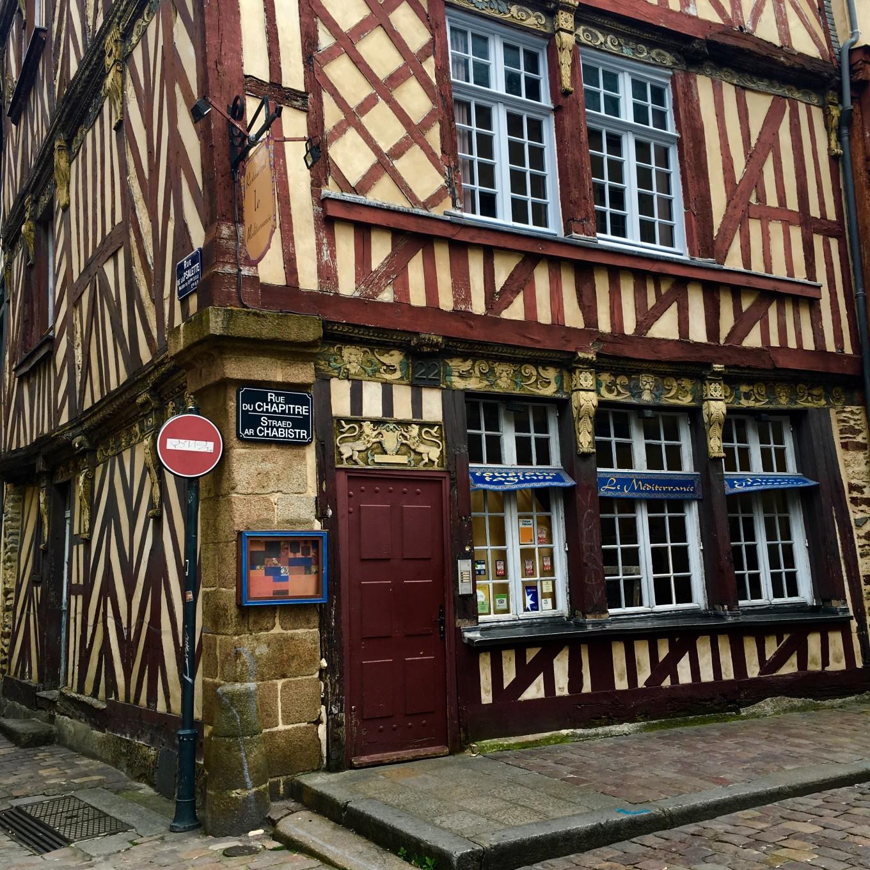 Façade de la vieille ville, Rennes, France