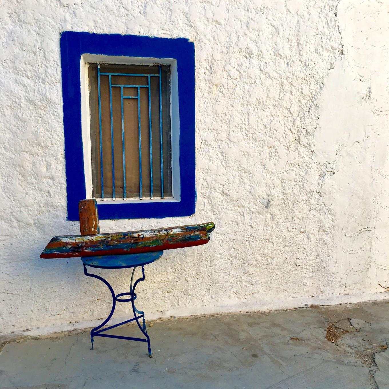 Façade de maison à Zia, Kos, Grèce