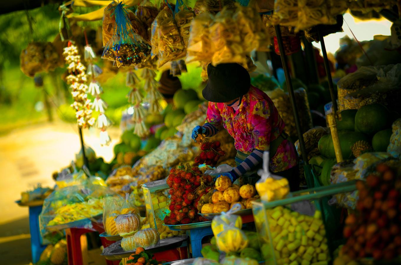 Marché de Siem Reap, Cambodge