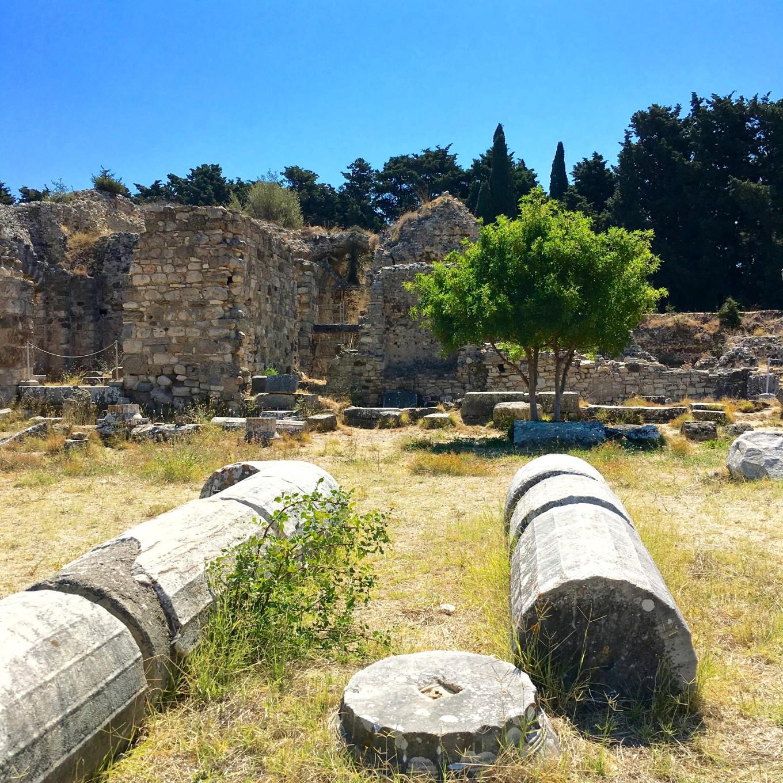 Colonnes de l'Asclepeion, Kos, Grèce