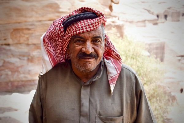 Bedouin à Petra, Jordanie