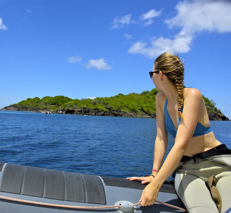 Vers la réserve Cousteau, Deshaies, Guadeloupe