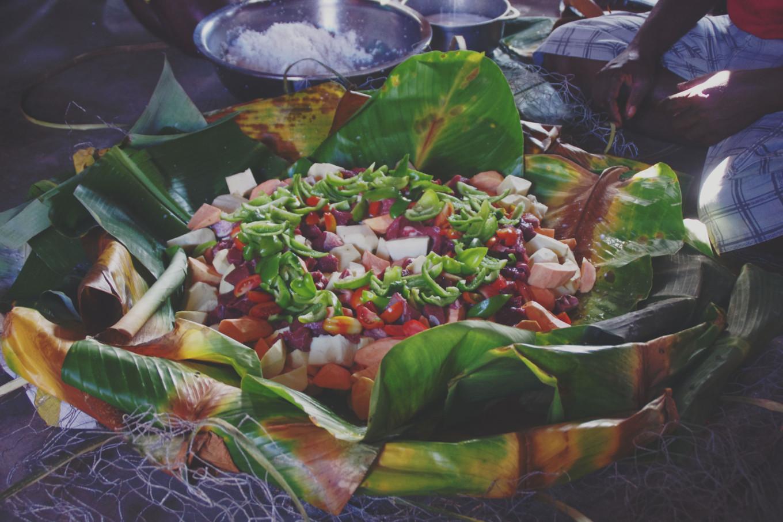Bougna plat local du Vanuatu