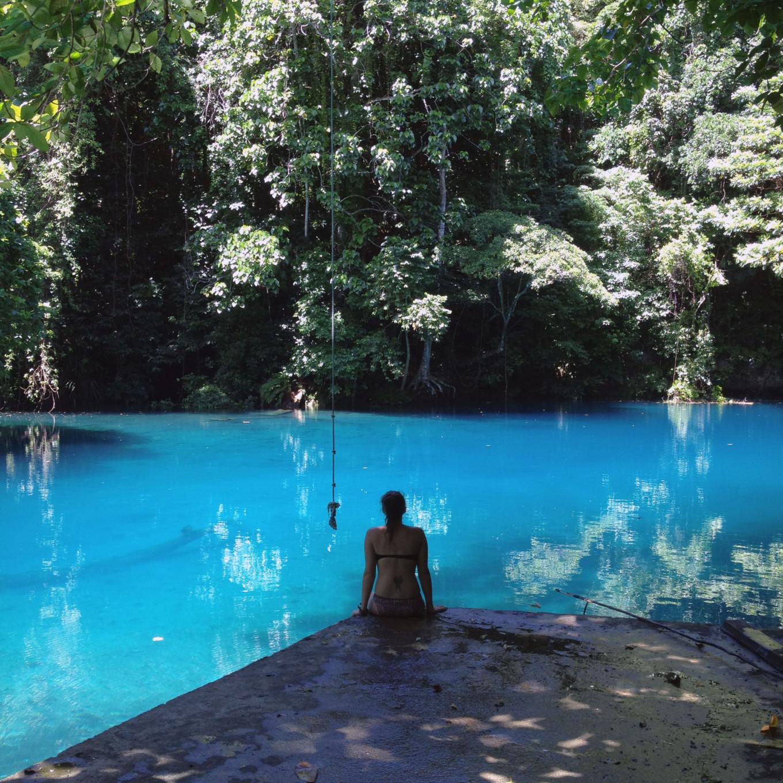 blue hole, ile de Santo Vanuatu