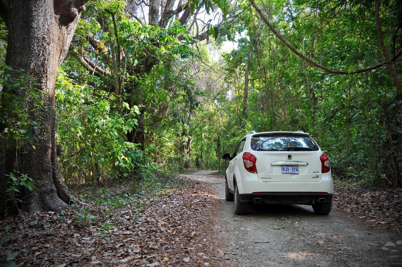 4x4 dans les routes de forêts Costa Rica