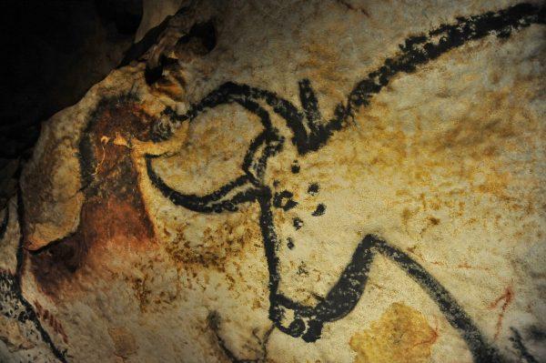 Détail de la salle des Taureaux, Lascaux IV
