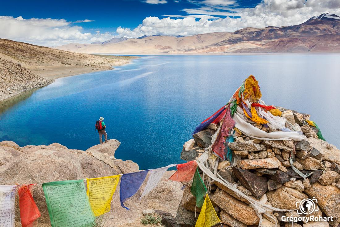 Vue sur le lac Tsomoriri Ladakh Changtang Inde