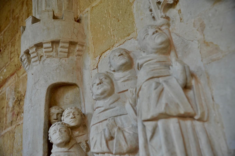 Détail de fresque, Cloître de Cadouin