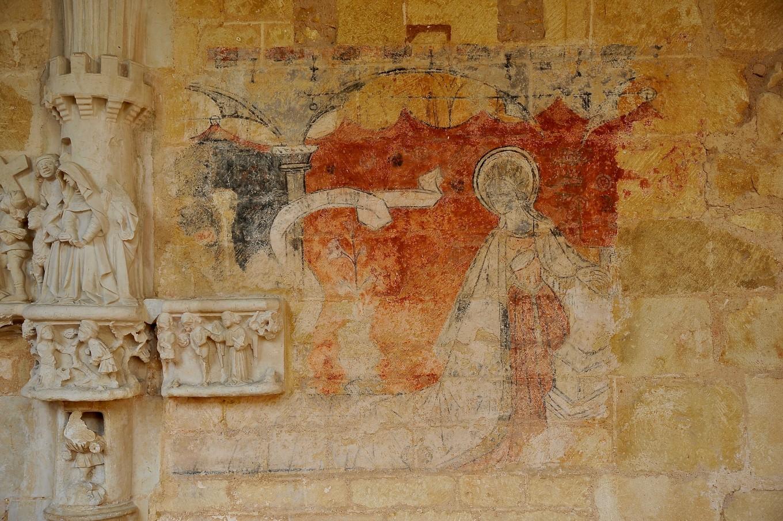 Fresque murale, Cloître de Cadouin
