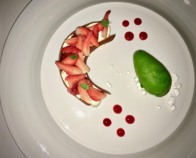 La fraise gariguette façon les Glycines, Eyzies de Taillac