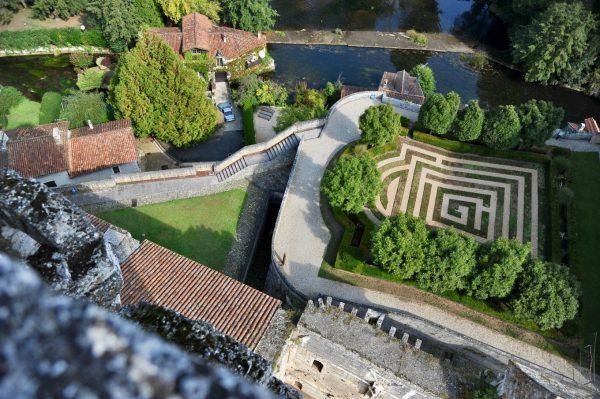 Labyrinthe du château de Bourdeilles