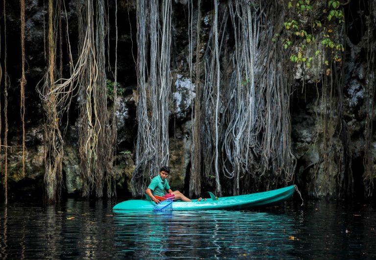 kayak à la cenote yokdozonot