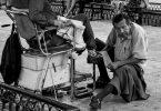 Cireur de chaussures, Mérida, Mexique