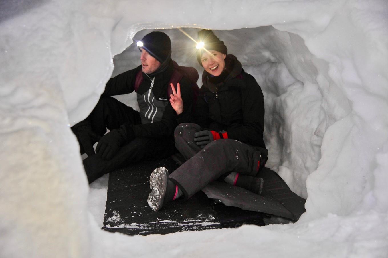 Dormir en igloo dans les Alpes du Léman