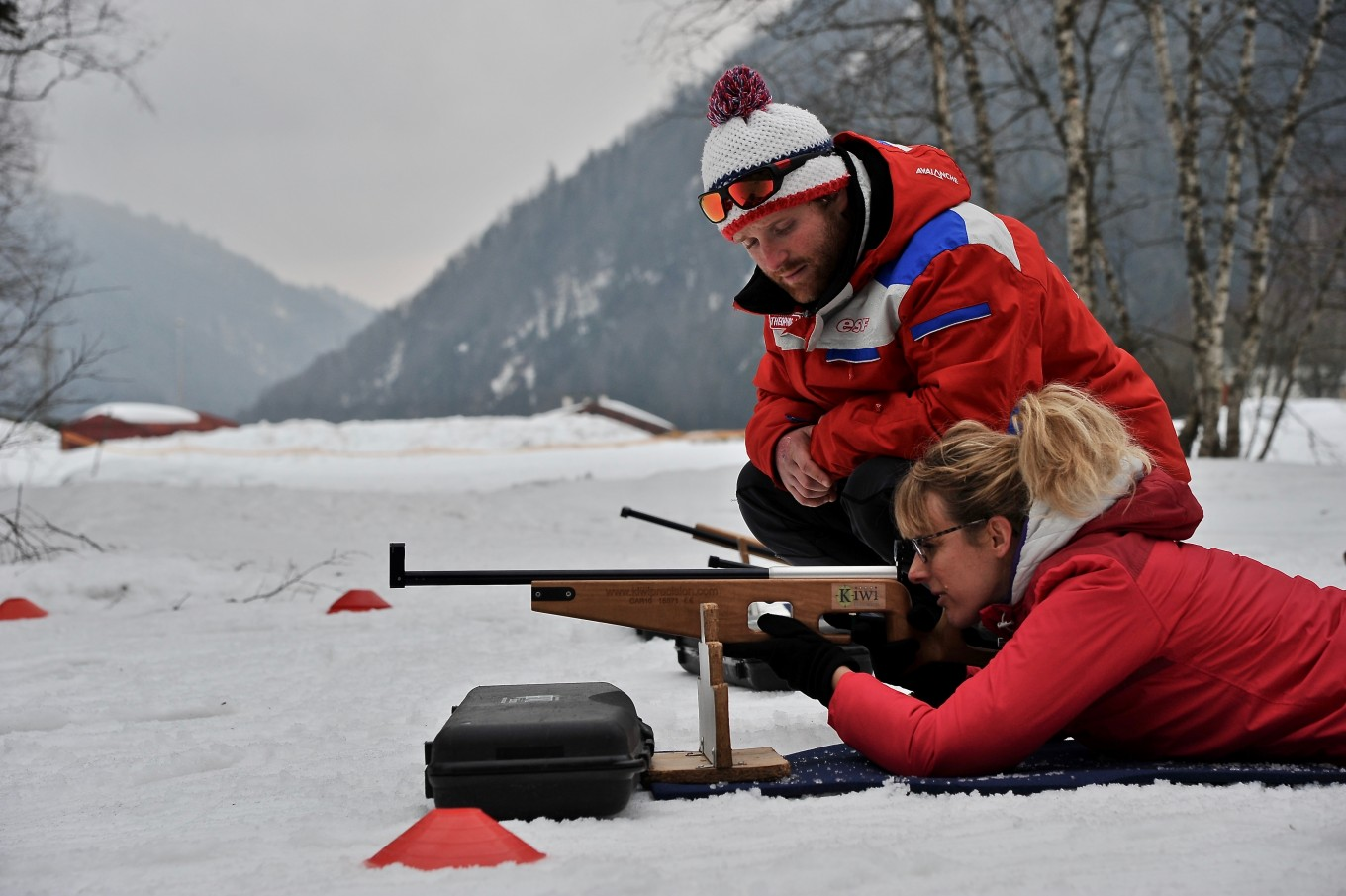 Initiation au Biathlon, Plateau des Moises