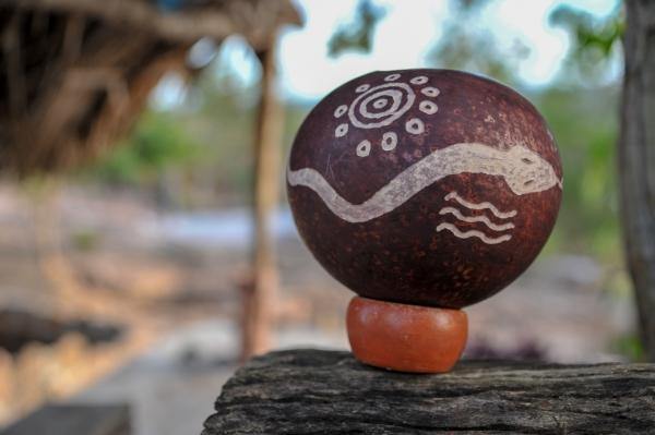 Gravure sur calebasse muna yucatan