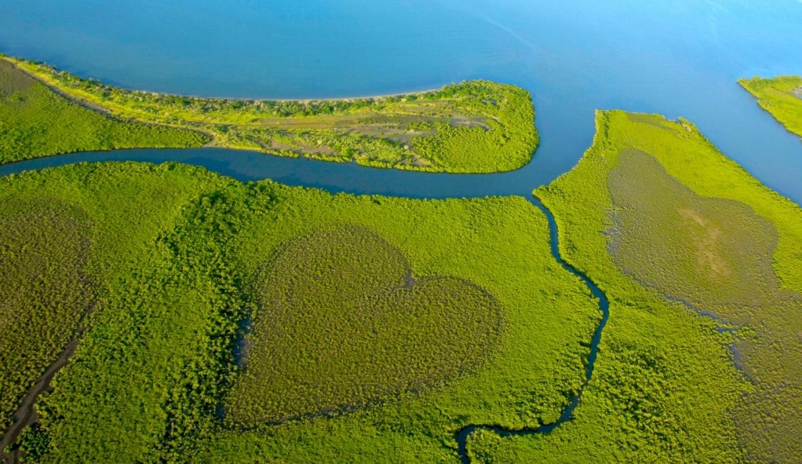 Coeur de Voh vu du ciel, Nouvelle-Calédonie