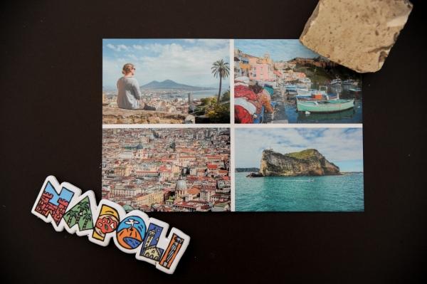 carte postale naples Italie