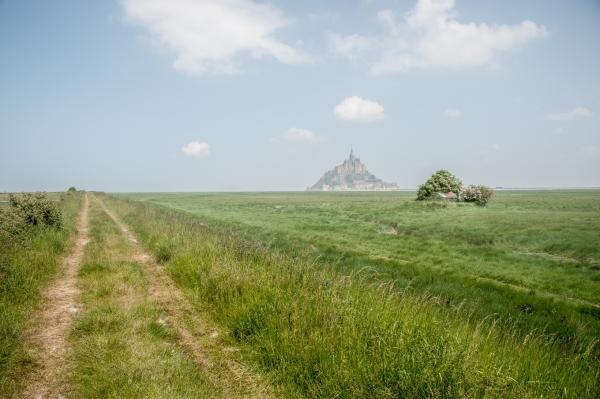 sentier GR34 dans les polders du mont saint michel