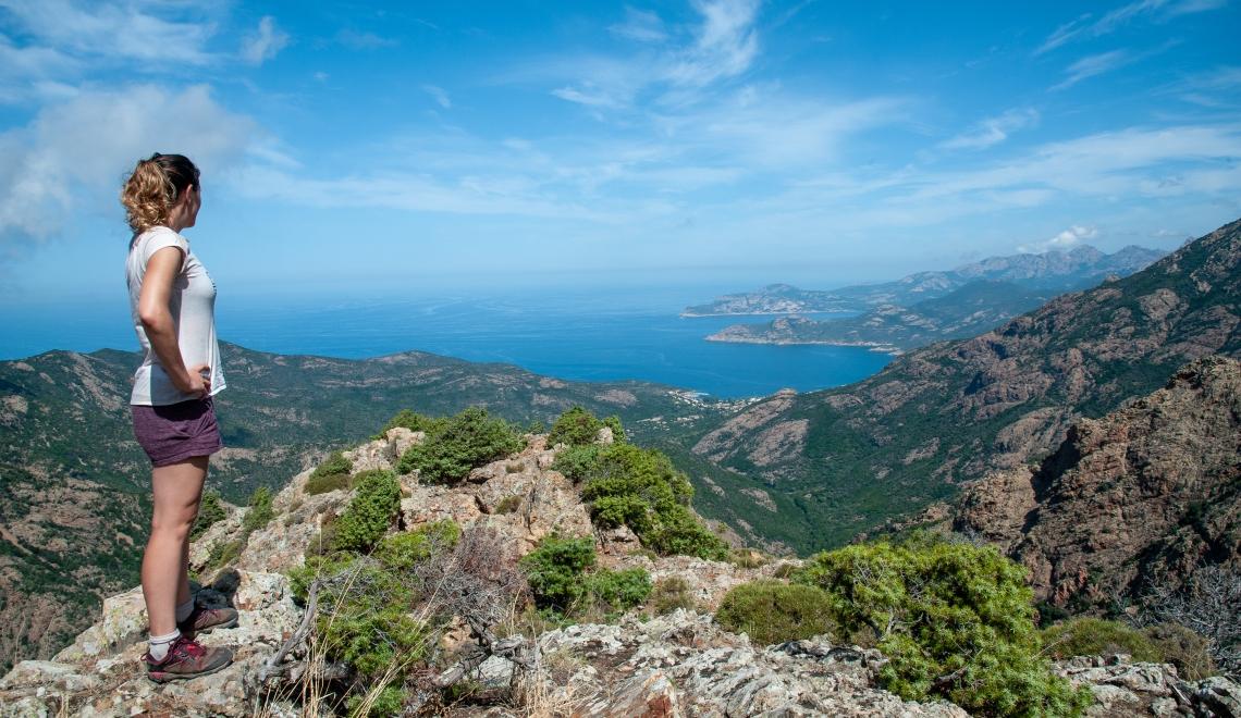 Randonner sur le Mare i Monte, Corse