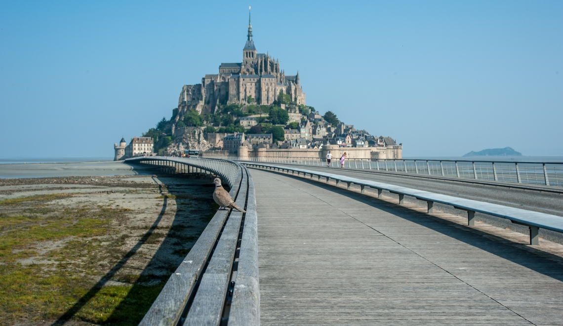Mont Saint Michel pont passerelle