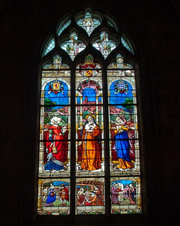 Vitrail de l'eglise Notre-Dame, Mortagne au Perche