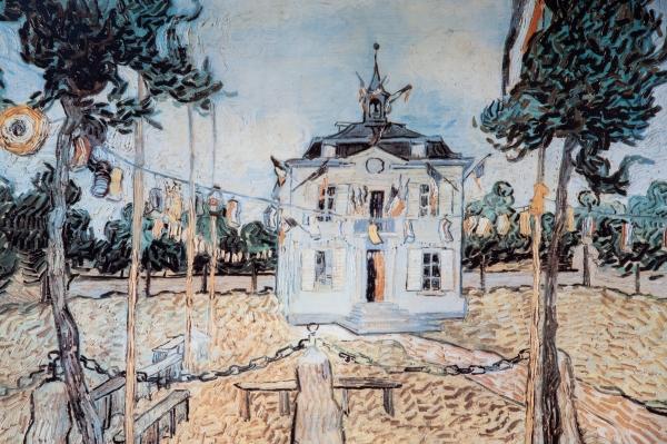Mairie d'Auvers-sur-Oise, peinte par Vincent Van Gogh