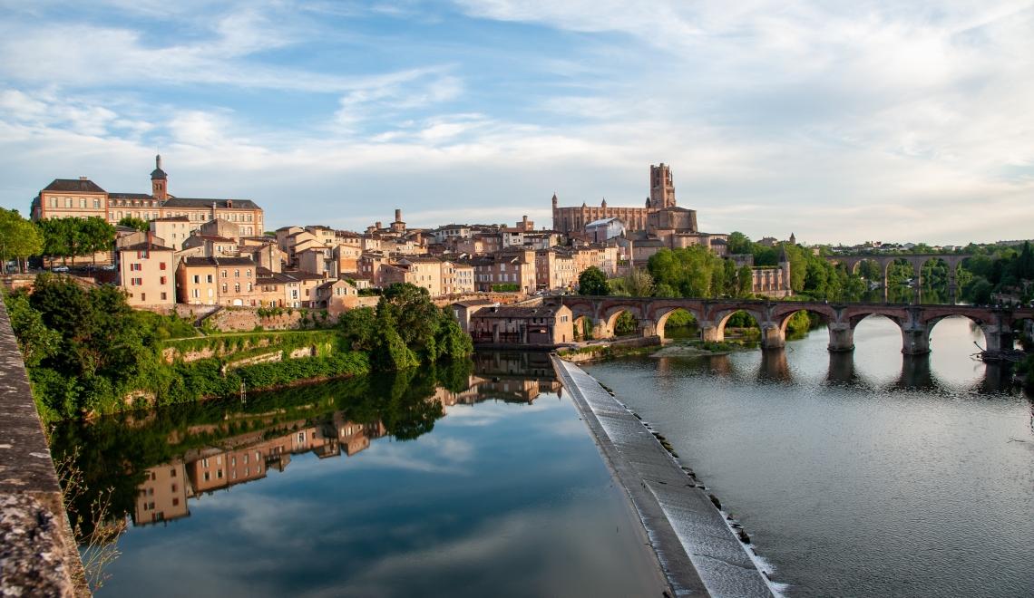 Albi depuis le Pont-Vieux, Tarn