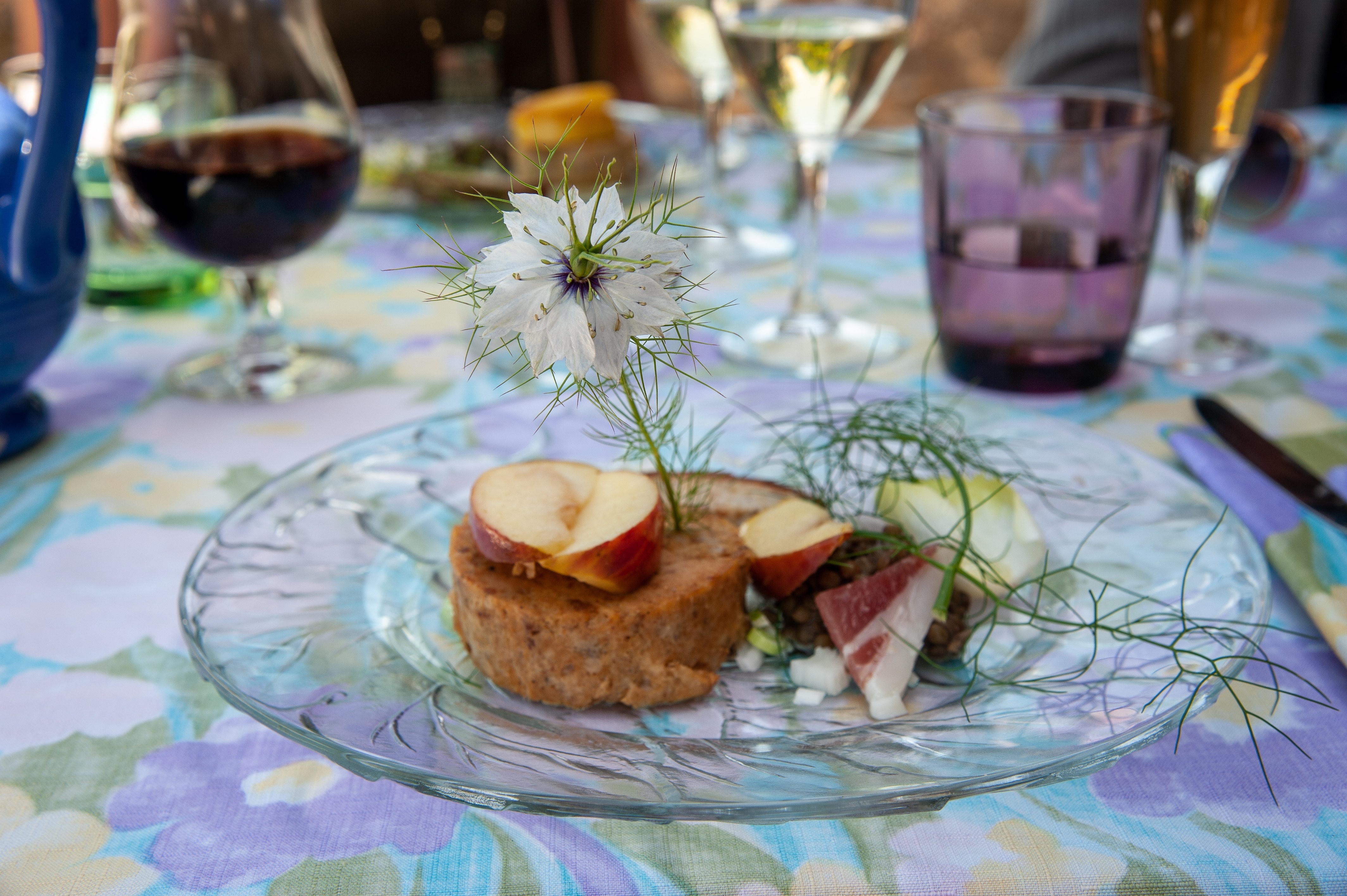 Dejeuner a l'hostellerie des Lauriers, Villeneuve-sur-Tarn