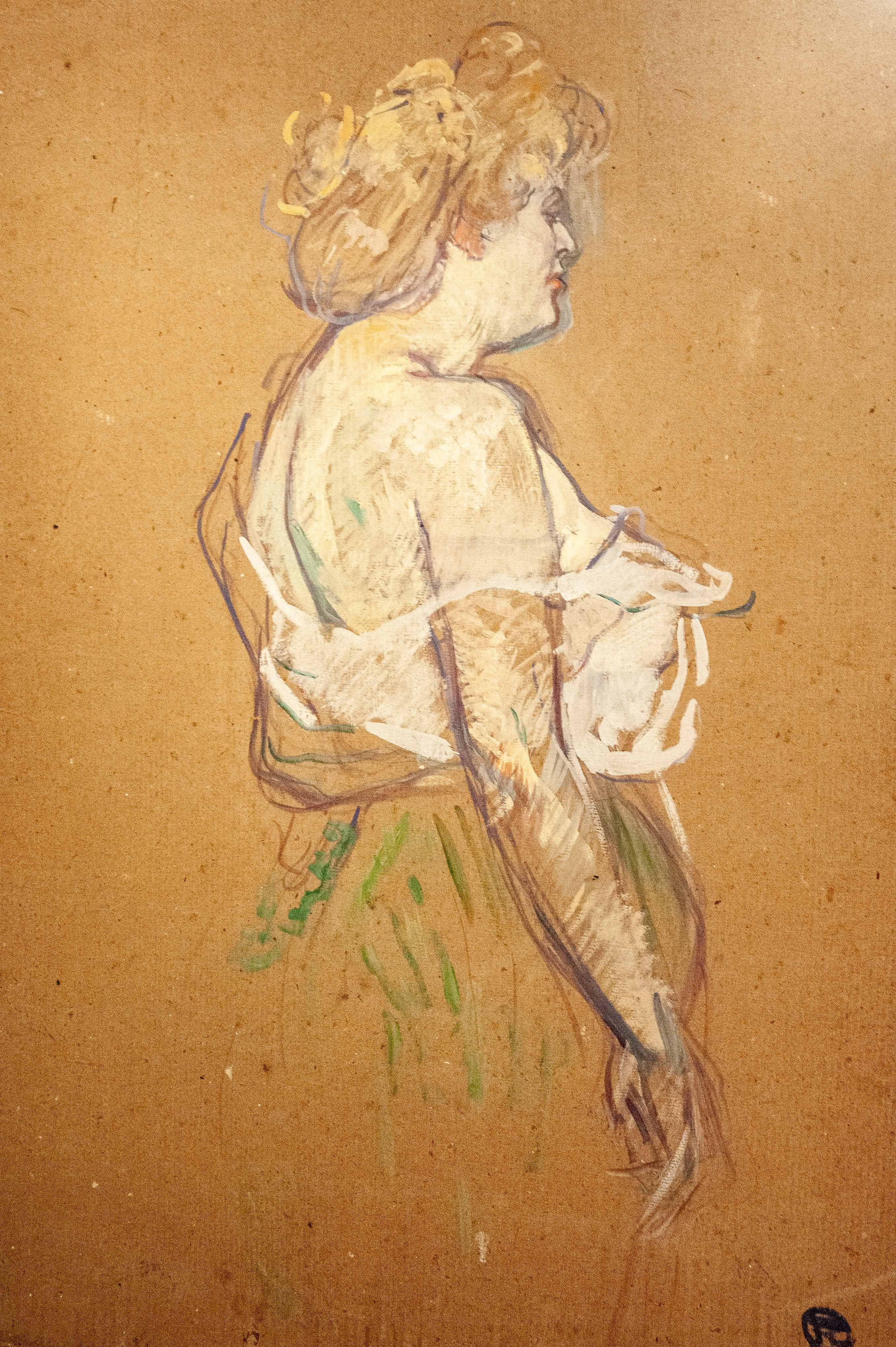 Lucie Bellanger, huile sur carton, Musee Toulouse-Lautrec, Albi