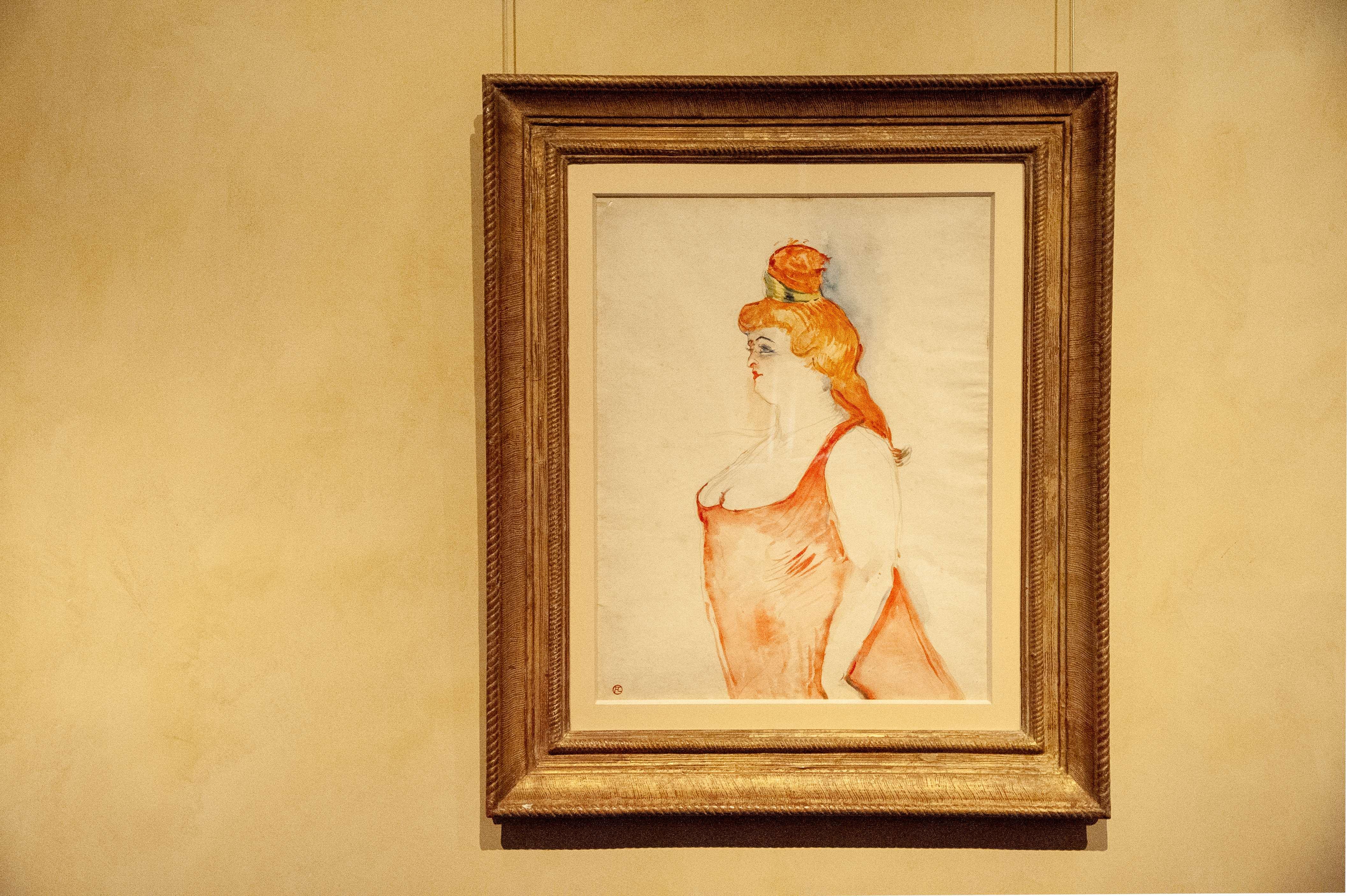 Mlle Cocyte dans La Belle Helene, 1900, Musee Toulouse-Lautrec